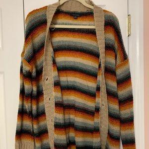American Eagle Oversized Ombré Striped Cardigan